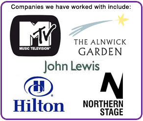 Companies we have worked with include: